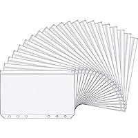 KU Syang A6 Size 6 Holes Binder Pockets, Binder Zipper Folders, Zipper Loose Leaf Bags for Documents Notebooks Cards, 15…
