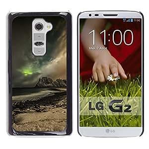// PHONE CASE GIFT // Duro Estuche protector PC Cáscara Plástico Carcasa Funda Hard Protective Case for LG G2 / Glow Montaña /