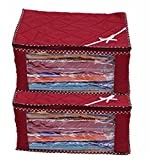 Kuber Industries™ 3 Layered Quilted Multi Saree Cover Set Of 2 Pcs (10-15 Sarees Capacity)