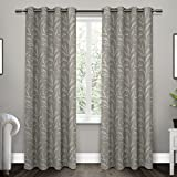 Exclusive Home Kilberry Woven Blackout Window Curtain Panel Pair with Grommet Top 52×84 Ash Grey 2 Piece For Sale