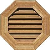 Ekena Millwork GVWOC12X1201RFUWR Gable Vents, 12'W x 12'H (17'W x 17'H Frame Size), Unfinished Western Red Cedar