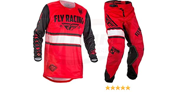 NEW FLY RACING ADULT MENS KINETIC SHIELD BLACK JERSEY PANTS COMBO MX ATV GEAR