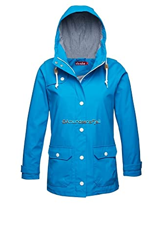 derbe Mujer Lluvia Chaqueta Peninsula Fisher Diva Blue–Blue Striped