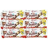 Kinder 健达 缤纷乐牛奶榛果威化巧克力6条装 129g*6(亚马逊自营商品, 由供应商配送)