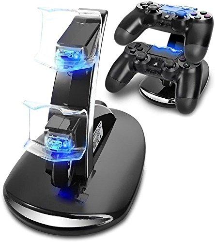 PS4 Controller Charger Charging Station, VSEER Dual USB Charger Charging Station Stand for Sony PlayStation 4 PS4 Controller and PS4 Pro Controller