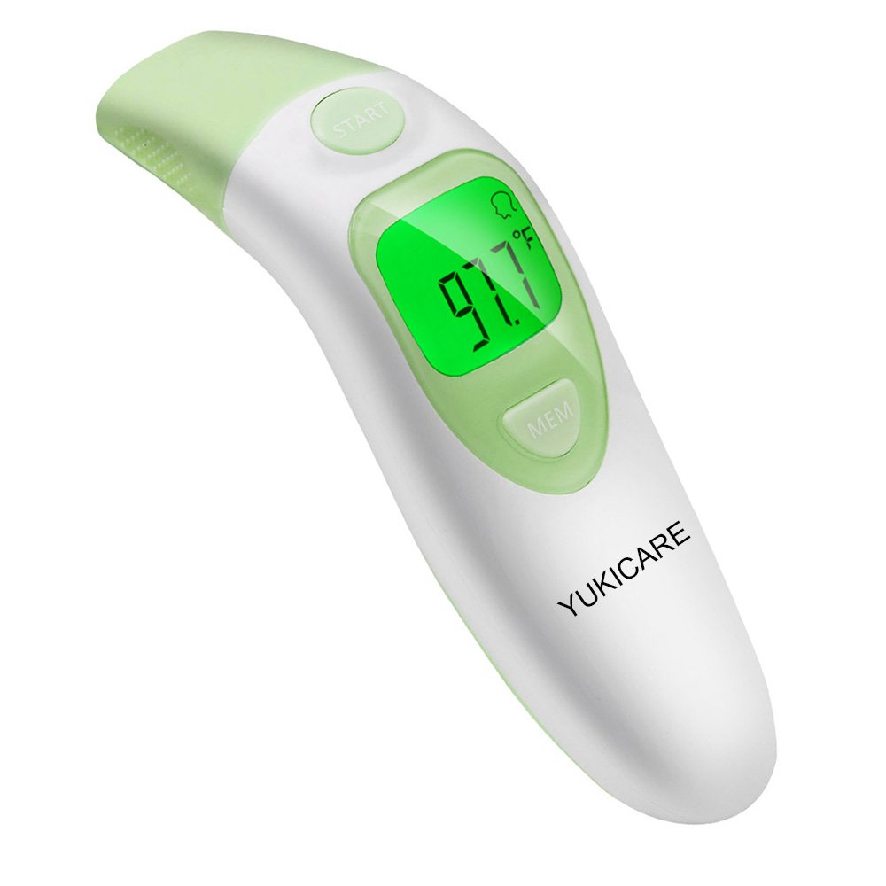 Ear and Forehead Thermometer, YUKICARE Infrared Digital Medical Thermometer Clinical Instant Read - CE and FDA Approved Professional Suitable for Baby,Adults and Object (Jasmine)