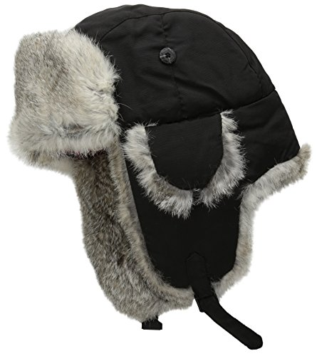 (Woolrich Men's Supplex Wool Aviator Hat, Black, Large)
