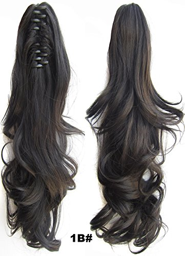 - Curly Claw Clip Ponytail Extension Synthetic Clip in Ponytail Hairpiece Jaw Clip Hair Extension #1B