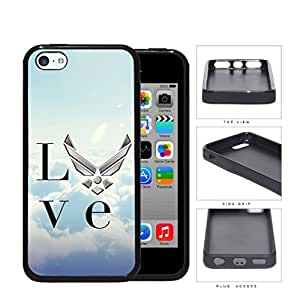 Love United States Air Force Rubber Silicone TPU Cell Phone Case Apple iPhone 5c