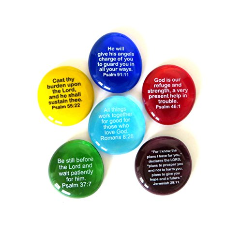 Stone Scripture (Lifeforce Glass Scripture Glass Stones,Six of Your Favorite Inspiring Bible Verses on Translucent and Opaque Rocks Packaged in a Deluxe Box Set II)