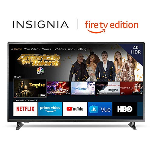 Insignia NS-55DF710NA19 55-inch 4K Ultra HD Smart LED TV with HDR - Fire TV Edition (Best Quality Television Brands)