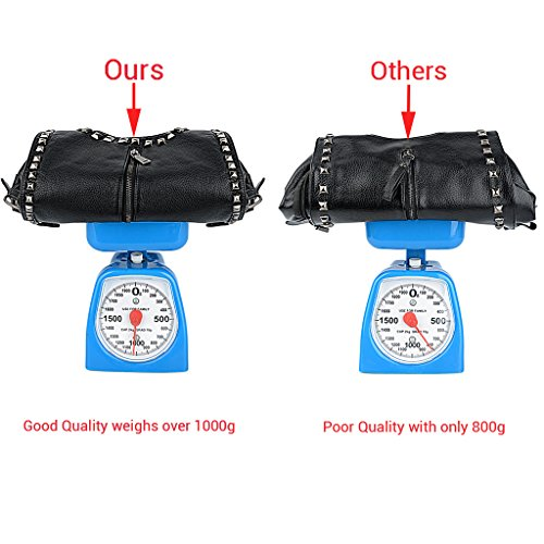 Backpack Black UTO Ladies Women Bag Leather Purse PU Convertible Shoulder Rucksack Studded Rivet Washed OU5qSUwx