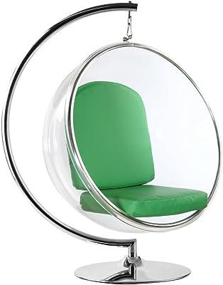 Fine Mod FMI1122 GREEN Bubble Hanging Chair, Green