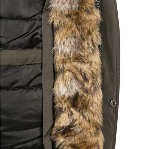 Fur Fur Fur Dark olive Hooded Uomo Classics Parka Urban 00551 Faux Faux Faux Faux Grün AnvSOx0q