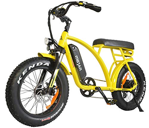 Addmotor MOTAN Electric Bicycles 48V 500W Motor Ebikes for Adults 10.4Ah Lithium Battery 20 Inch Fat Tire M-60 2019 Electric Bikes with Throttle Pedal Assist(Yellow)