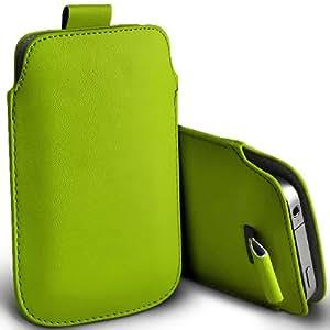 ONX3 HTC Desire 200 Leather Slip cuerda del tirón de la PU de protección en la bolsa del cierre rápido (verde)