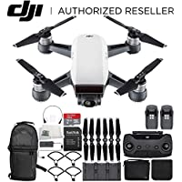 DJI Spark Portable Mini Drone Quad copter Fly More Combo Ultimate Backpack Bundle (Alpine White)