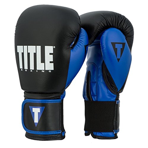(Title Boxing Dynamic Strike Heavy Bag Gloves, Black/Blue, 16 oz)