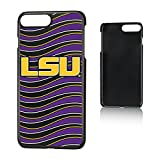 Keyscaper NCAA LSU Tigers LSU Louisiana State Tigers Wave Slim Case, iPhone 8 Plus/7 Plus/6 Plus, Black