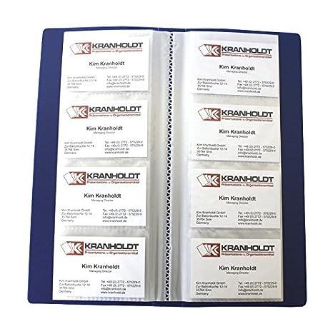 Carpeta con fundas para 240 tarjetas de visita, color azul: Amazon.es: Oficina y papelería