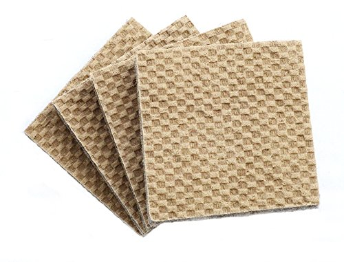 - DURA-GRIP DG4SQ-8 Heavy Duty Non-Slip Rubber (No Glue Or Nails) Furniture Floor Pads, Protectors, 4'' L, Set of 8