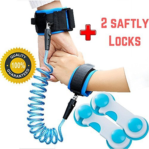 Child Leash Anti Lost Wrist Link Baby Safety Harness for Toddlers & Kids Harness Strap Rope Leash Walking Hand Belt (2m Blue) by AceWix (Image #1)