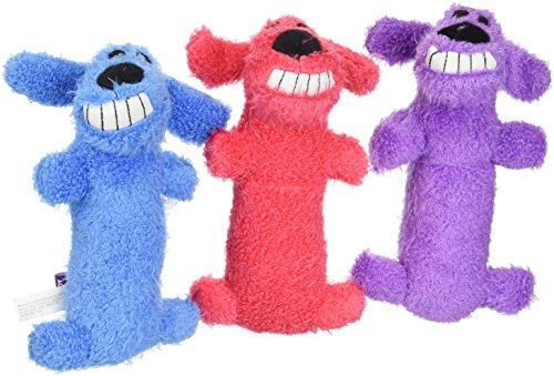 - (3 Pack) Multipet Mini Plush Loofa Dog Toy 6-Inch