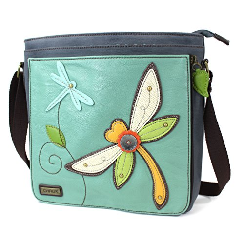 (Chala Deluxe Messenger Bag (Teal Dragonfly))