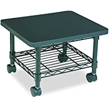 Safco Products Under Desk Printer/Fax Stand 5206BL, Black Powder Coat Finish, Swivel Wheels for Mobility
