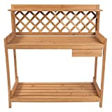 Potting Bench Wood Outdoor Garden Plant Station Planting Flower Summer Backyard