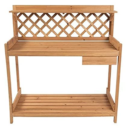 Strange Amazon Com Potting Bench Wood Outdoor Garden Plant Station Gmtry Best Dining Table And Chair Ideas Images Gmtryco
