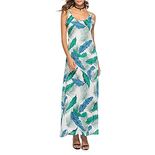 iBaste Womens Long Bohemian Sexy Backless Side Slit Summer Beach Strappy Maxi Dress: Amazon.co.uk: Clothing