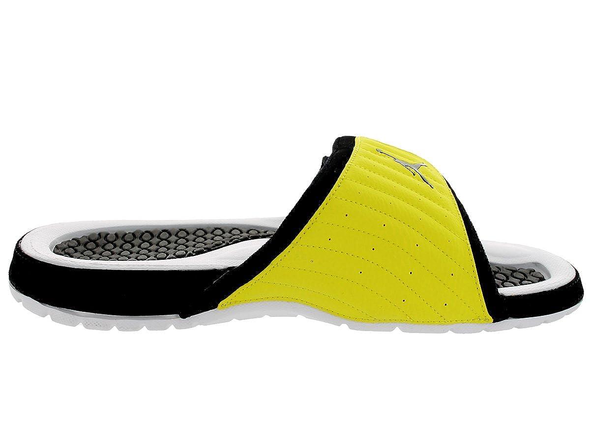 44464faab2f2 Jordan Nike Men s Hydro Xiv Retro Black Black Vibrant Yellow Wht Sandal 10  Men UK  Amazon.co.uk  Shoes   Bags