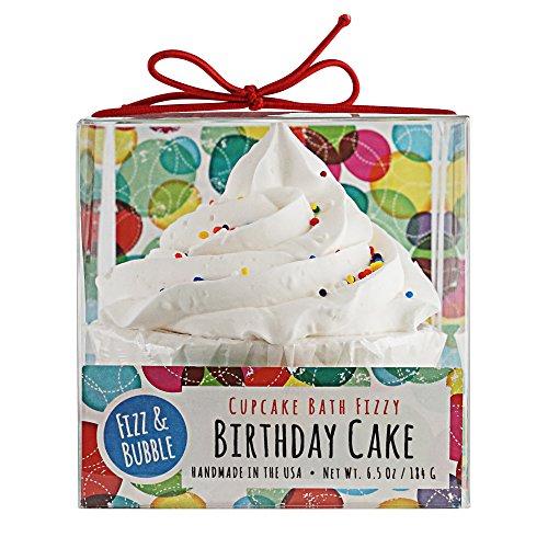 Fizz & Bubble Bath Fizzy Bomb Cupcake Birthday Cake 6.5 Ounce