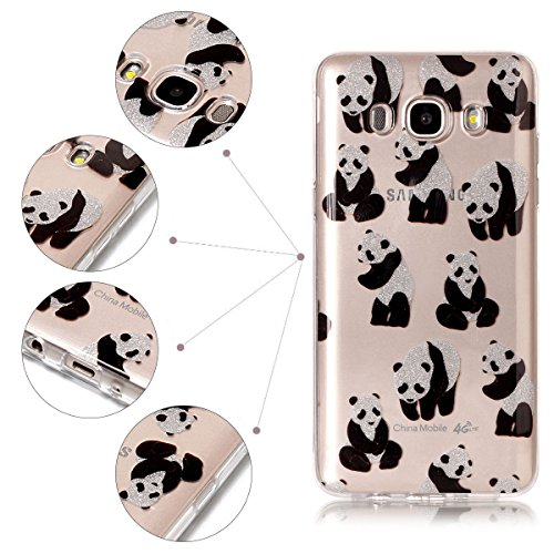 Funda Galaxy J5 2016 / J510, Galaxy J5 2016 Funda Silicona, SpiritSun Soft Carcasa Funda para Samsung Galaxy J5 2016 / J510 (5.2 pulgadas) Trasparente Carcasa Case Cristal Gel Protectora Carcasa Ultra Panda