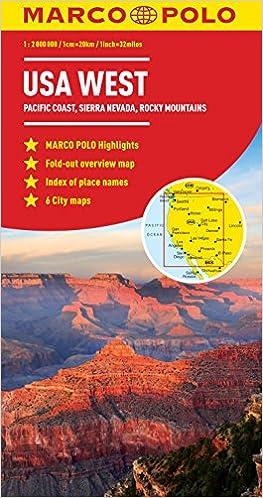 USA West Marco Polo Map (Marco Polo Maps): Amazon.co.uk ...