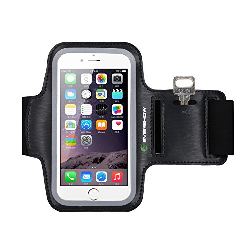 Arm Electronics (iPhone 6s Armband, Evershow Premium Water Resistant Sport Armband for iPhone 6, 6S Case Running Pouch Touch Compatible Key Holder | Also Fits Galaxy S6 Edge, S7 [Lifetime)