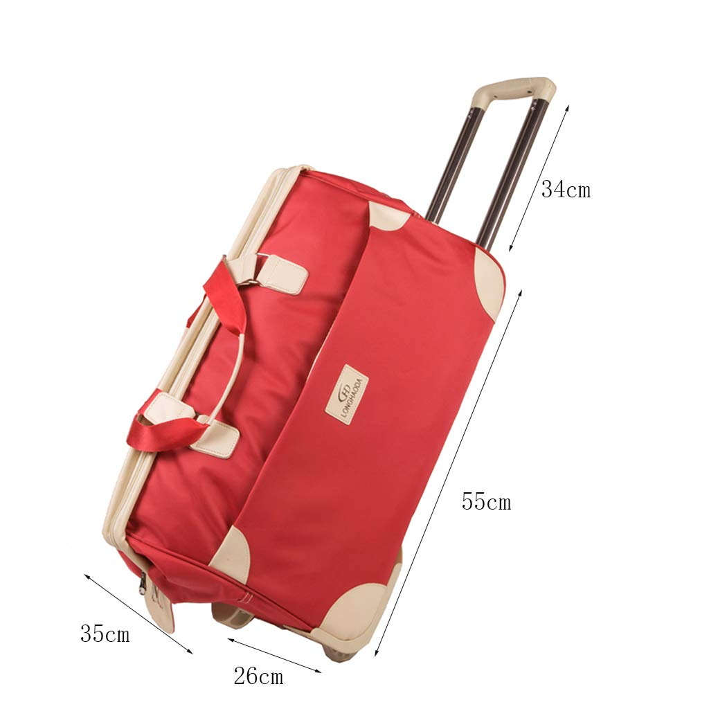 Color : Black Handbag Boarding Suitcase Foldable Clothes Storage Bag Travel Trolley Bag Trolley Case Simple and Stylish Unisex
