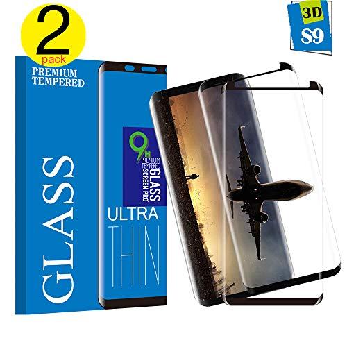 Samsung Galaxy S9 Panzerglas Schutzfolie, [2 Stück]Hohe Qualität 3D Displayschutzfolie [9H Härtegrad] [Anti-Fingerabdruck] [Ultra Klar] [Anti-Kratzen] [Blasenfreie Installation] Gehärtetes Glas Panzerglas Folie für Samsung Galaxy S9