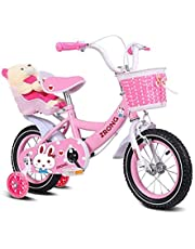 """Trike Tricycle Present Trike Girl Bike Princess 12"""" 14"""" Inch Front Brake and Rear Brake on Handlebar Basket and Doll Carrier,Child Bicycle for Kids Age 2-6 Years Old"""