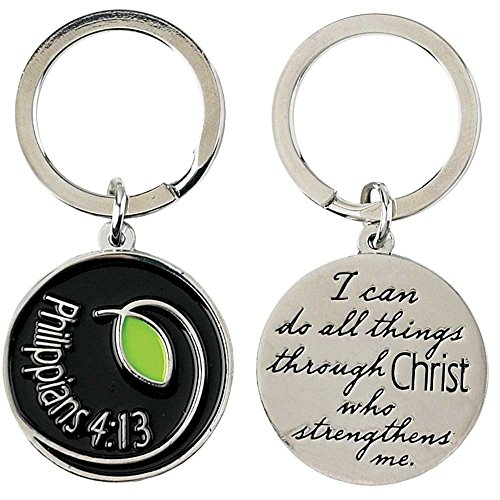 Dicksons I Can Do All Things Through Christ Phil. 4:13 Scripture Pendant Key Ring Keychain
