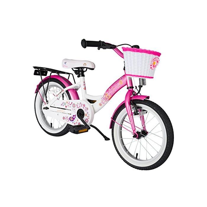 BIKESTAR Bicicleta infantil | Bici para niños y niñas 16 pulgadas | Color Rosa | A partir de 4 años | 16″ Edición Clásica 2018