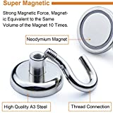 DIYMAG Heavy Duty Magnetic Hooks, Strong Neodymium Magnet Hook for Home, Kitchen, Workplace, Office and Garage, Hold up to 65 pounds