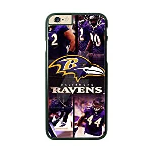 NFL Case Cover For SamSung Galaxy S6 Black Cell Phone Case Baltimore Ravens QNXTWKHE1833 NFL Personalized Back Phone