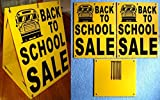 1 Pc Attractive Popular Back to School Sale Sign Plastic Coroplast Store Message Retail Sold Size 18'' x 24'' Sandwich Board