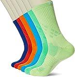 Kold Feet  Athletic Men's 6 Pairs Colorful Crew Socks