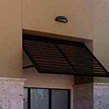 Beauty-Mark OH23-At-6PTR Awntech's 6-Feet Ohio Metal Shutter Awning 80-Inch W X 24-Inch H X 36-Inch D Pewter
