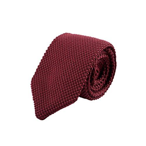 Daxin Men's Slim Skinny Woven Tie Knit Knitted Tie Necktie Narrow Ties Various - Blue Tie Knit