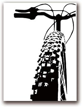 Lienzo para bicicleta de color blanco y negro, para pintar ...
