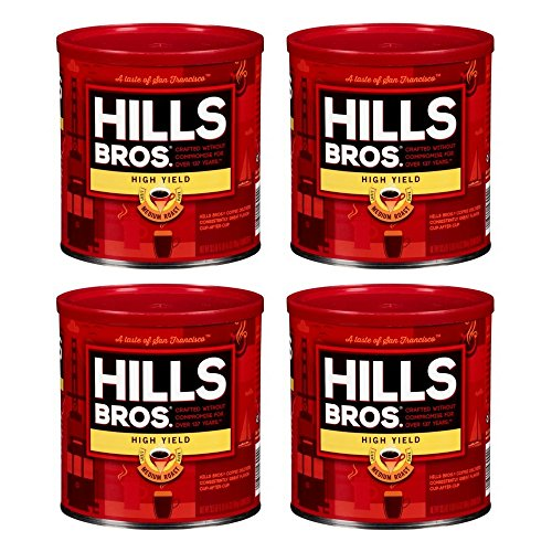 Hills Bros Coffee, High Yield Medium Roast Ground, 30.5 Ounce (4 PACK)